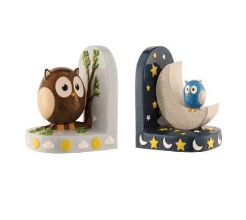 Aynsley Day and Night Owl Bookends